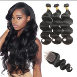 Brazilian Body Wave 3 Bundles & 1 Closure - Mula Hair