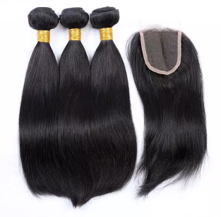 Malaysian Straight Bundles with 4*4 Lace Closure - Mula Hair