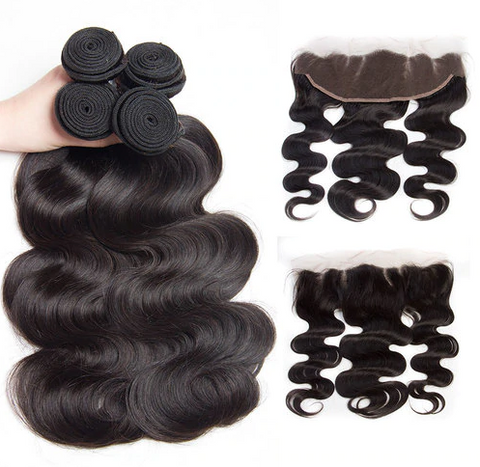 Malaysian Body Wave Bundles with 13*4 Lace Frontal - Mula Hair