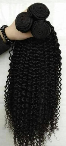 Brazilian Kinky Curly Bundles with 4*4 Lace Closure - Mula Hair