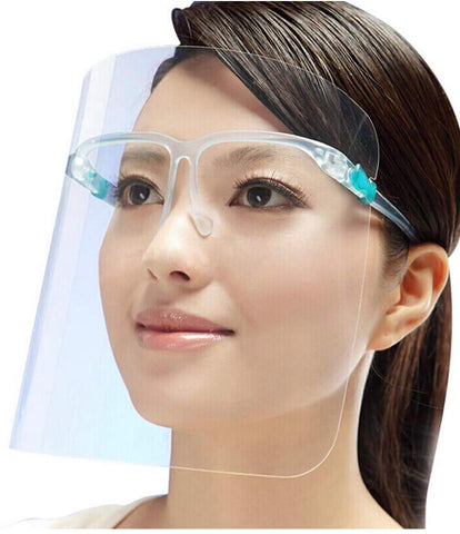 Safety Glasses Face Shield  - Reusable Transparent Visor Anti-Fog Layer 100 lot