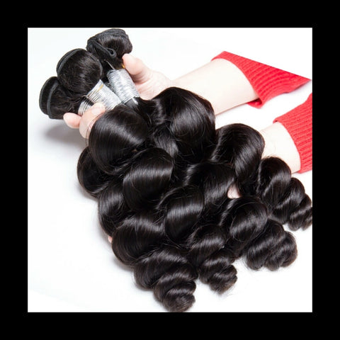 Loose Wave Human Hair 3-4 Bundles Mixed Lengths - Mula Hair