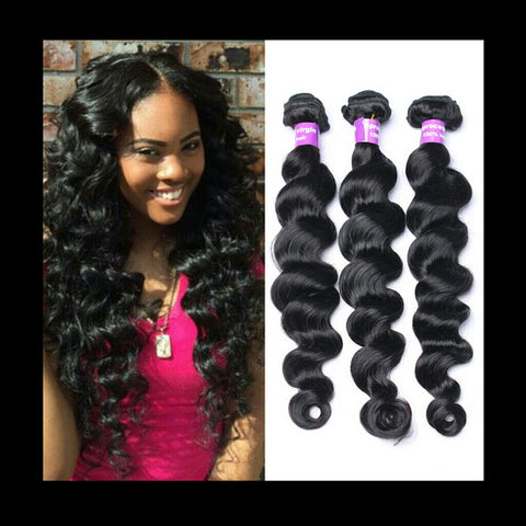 loose Wave Human Hair 3 Bundles - Mula Hair