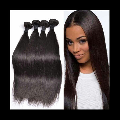 Straight Human Hair 3-4 Bundles Mixed Lengths - Mula Hair