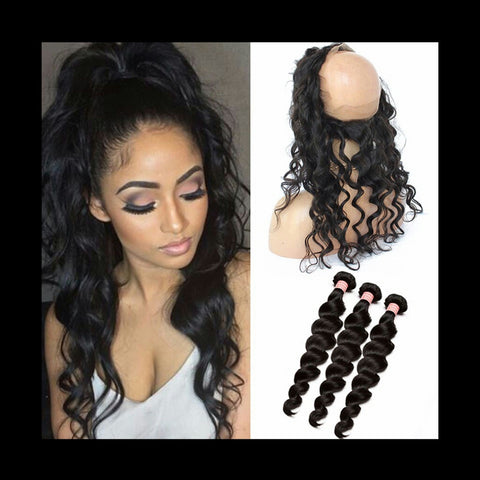 Loose Wave 360 Lace Frontal - Mula Hair
