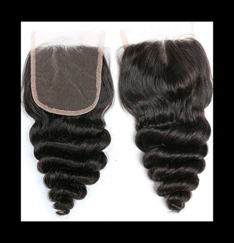 Loose Wave 4*4 Lace Closure - Mula Hair