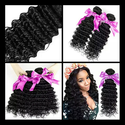 Deep Wave Human Hair 3 Bundles - Mula Hair