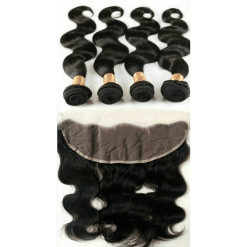 Malaysian Body Wave 4 Bundles & 1 Frontal - Mula Hair