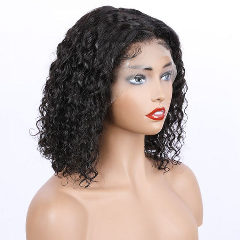 "Mula Hair 8"" Bob Wig 130 Density 13X4 Brazilian Natural Wave Lace Front Human Hair Pre Plucked W51"