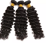 Brazilian Deep Wave Bundles with 13*4 Lace Frontal - Mula Hair