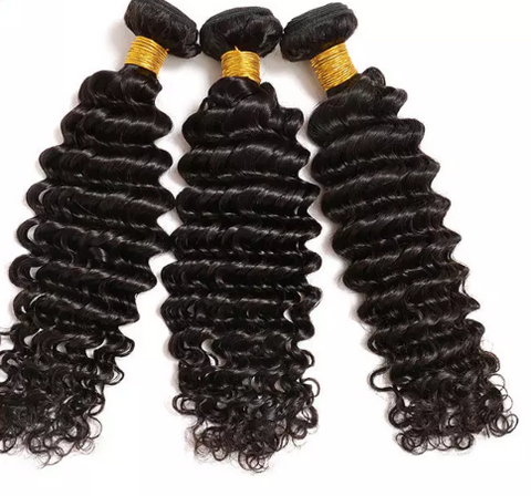 "11 Bundles Deep Wave Human Hair 10"" - 30""  Brazilian, Malaysian, Peruvian & Indian - Mula Hair"