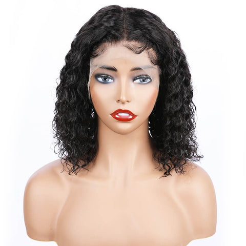 Mula Hair 150 Density 13x6 Short Curly Human Hair Bob Wig Brazilian Lace Front Wig W23