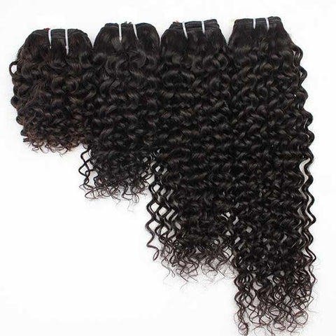 Malaysian Jerry Curly Bundles with 13*4 Lace Frontal