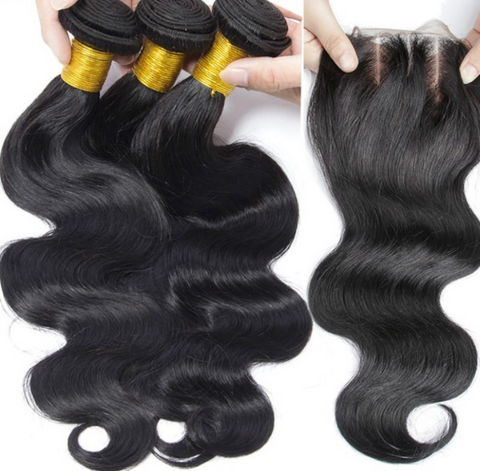 Malaysian Body Wave Bundles with 4*4 Lace Closure - Mula Hair