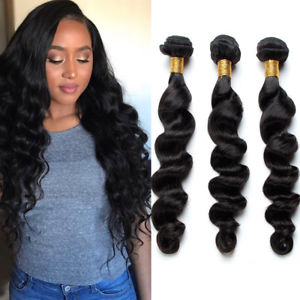 Brazilian Loose Wave Bundles with 4*4 Lace Closure