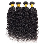 Brazilian Water Wave Bundles with 4*4 Lace Closure - Mula Hair
