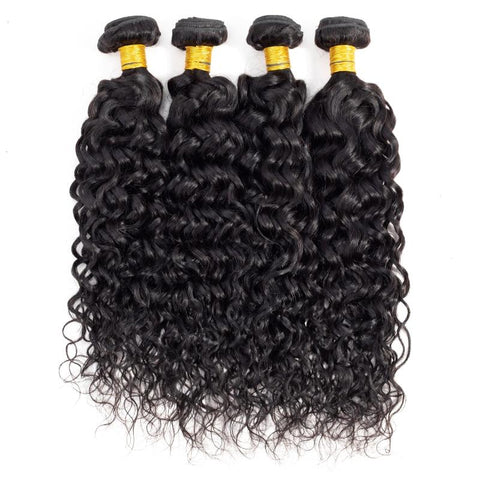 "11 Bundles Water Wave Human Hair 10"" - 30""  Brazilian, Malaysian, Peruvian & Indian - Mula Hair"