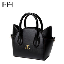 Leather Cute Cat top-handle shoulder bags
