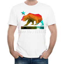 California Bear Printed Casual Short Sleeve Tee