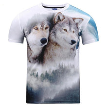 3d T-shirt printing and watercolor lion slim t shirt