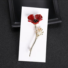 Red Poppy Flower Brooch Vintage Collar Pins for Men Jewelry Brooches Pins Boutonniere Men Suit Accessories