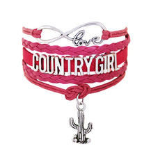 Infinity Bracelets the U.S. southern country girl saguaro cactus Music bracelet Sports Suede Leather Cheer Bracelets