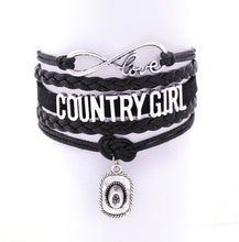 Infinity Bracelets southwestern saguaro country girl Music bracelet  Sports Suede Leather Cheer Bracelets