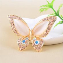 3 colors for Opal rhinestone brooches for wedding butterfly brooch for women