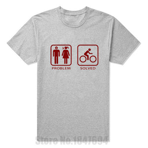 Problem Solved with Bike Funny Casual T-Shirt