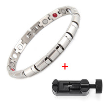 Health Bracelet Bangle Healing Magnetic 316L Stainless Steel Bracelet For Men Or Women With FIR And Magnetic