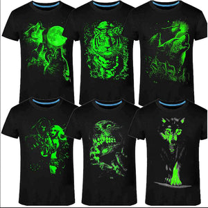 3D Fluorescent Short-sleeve Luminous Tee Shirt