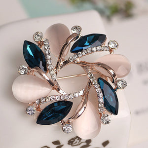 High-Grade Flower Brooch Korean Style Bauhinia Flower Corsage Crystal Rhinestone Brooch Pin Jewelry  @M23