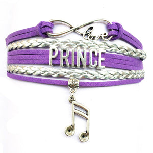Infinity Love Prince Bracelet Memorabilia Collectible Music Charm Prince Fans Gift