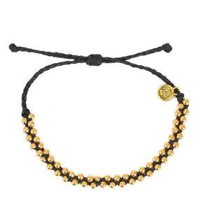 Fashionable Rope Elegant Women Jewelry Brand Bead Track bead braided bracelet Women Friendship Beaded Wax Bracelets