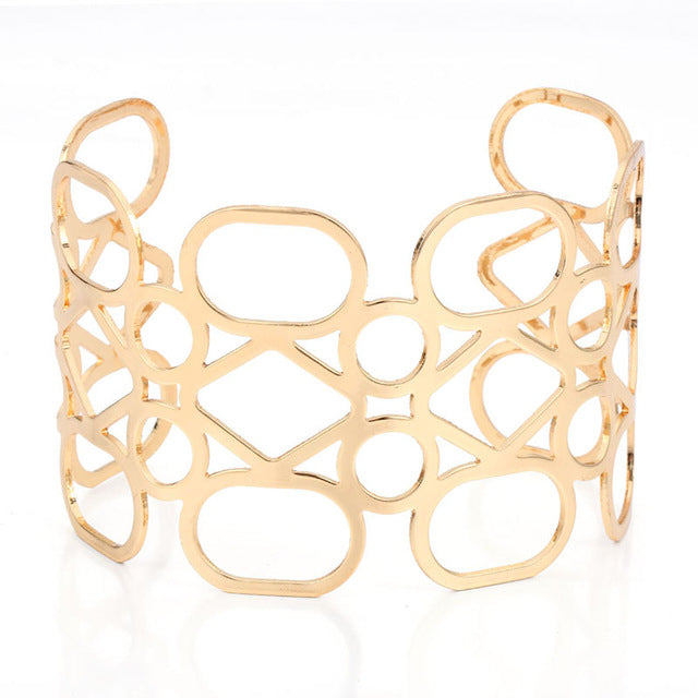 Cuff Bangles&Bracelets Cool Gold Color Exagerated EU Style