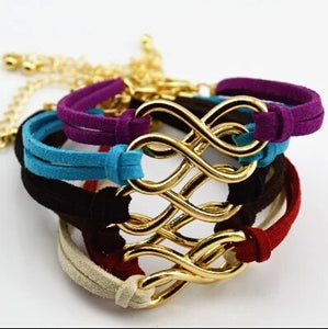 Vintage Infinity 8 Leather Bracelets For Women Gift
