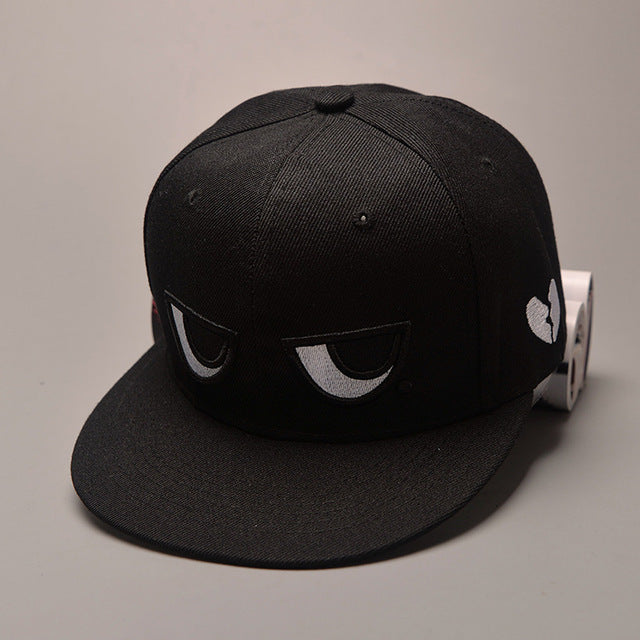 Black and White Eyes Baseball Cap