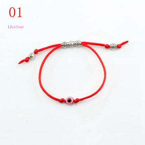 Acrylic eye bead Alloy bead Kabbalah Red String Bracelet Red