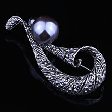 Vintage Pearl Brooch For Women Wedding jewelry White Gray Pearl Brooches Bouquet Fashion Hijab Scarf Pin Up Buckle
