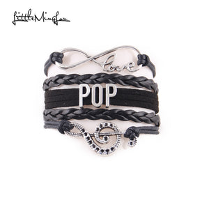 Pop music Bracelet (Black)