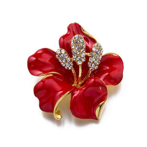 Romantic Wedding Red Poppy Flower Brooch Pins Fashion Jewelry Elegant Kate Princess Memorial Enamel Brooches for Women