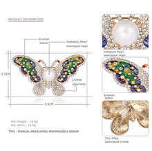 MloveAcc Luxuy Colorful Enamel Butterfly Brooches for Women Gold Color Crystal Broches Scarf Dress Pins Decoration Bijouterie