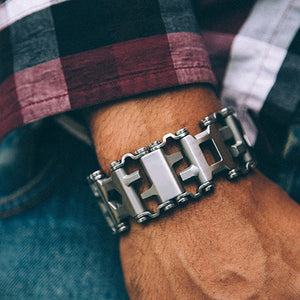 Men's Fashion EDC Stainless Steel Bracelet Outdoor Tool Bracelets Bangles