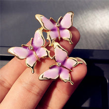 High Quality Three Butterfly Enamel Brooches Pins For Women Wedding Brooch Jewelry Clothing Accessories