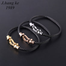 Couple Stainless Steel Open Cable Wire Bangles Bracelets For Womens Men