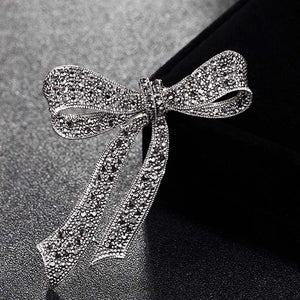Bridal Bow Brooches Jewelry Perfect Antique Silver Color flower brooch pins party Gifts hijab Accessory Hats jewelry