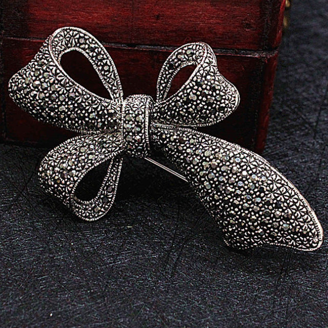 Vintage Bowknot Fashion Brooches Jewelry Perfect Rhinestone Crystal Pin Brooch Women Wedding Jewelry Bridal Broches