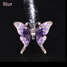 Women Girls Purple Enamel Butterfly Brooch pins for wedding party jewelry insect animal Brooch broaches gift