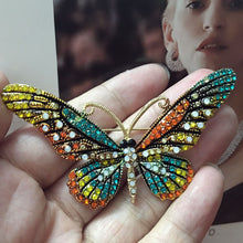 12pcs/lot Vintage Butterfly Brooches Pins For Women Perfect Rhinestone Crystal Hijab Pins And Broaches