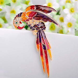 12pcs/lot Fashion Birds Brooch Pin For Men Jewelry Red Enamel Hijab Pin Up Clip Scarf Cartoon Broche Broach Bijoux